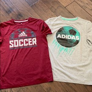 Adidas soccer tees. Perfect like new condition